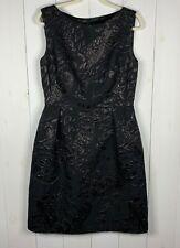Escada Womens Black Size 42 Sleeveless Glitter Boat Neck Cocktail Formal Dress