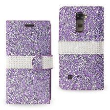 Crystal Diamond Rhinestone Flip Wallet Case Cover For LG Stylo 2 / Stylo 2 Plus