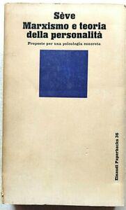 Seve Marxismo e teoria della personalità Einaudi Paperbacks 1977 Psicologia