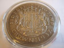 More details for 1937 george vi coronation silver crown - very good condition!