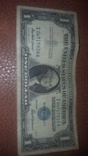 1957 $1 Dollar Bill Silver Certificate Currency Blue Seal Note Paper Money