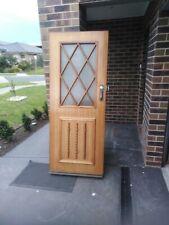 Front door. ply core timber 812 w x 2030 h deadlock and key, true retro  design