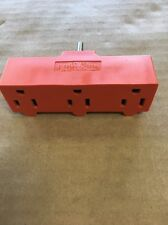 Pass & Seyrnour Triple Outlet Plug Orange 125V