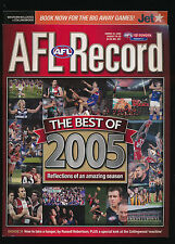 2005 AFL Football Record Western Bulldogs vs Collingwood Magpies Aug 26 unmarked
