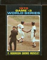 1971 Topps #329 Game #3 World Series F. Robinson Shows Muscle! EX (JU21)