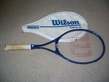 Wilson High Beam Series Aerodynamic Cobra 95 Tennis Racket W/Cover, Blue