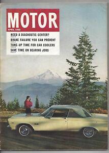Vintage Motor Magazine April 1965 Automobile Shop Repair Ford Chevrolet Pontiac