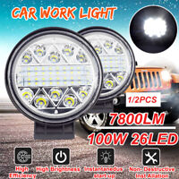 100W 26 LED Work Off-Road Light Spot Fog Lamp Car Truck Boat Square  #+ ✔