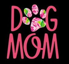 """Dog Mom Decal in Pink - 3"""" x 3"""" for Insulated Cups 16, 20 or 30 oz"""