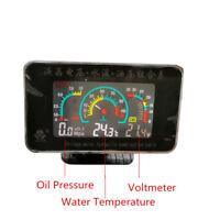 12V/24V Car Oil Pressure Gauge+Voltmeter+Water Temperature Meter W/Sensors Set