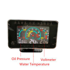 12V/24V Car Oil Pressure Gauge+Voltmeter+Water Temperature Meter W/Sensors Set