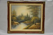 Large oil paint on canvas Signed by D. Jackson/ autumn scenery