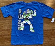 NEW! Disney BUZZ LIGHTYEAR Toy Story Boys Graphic Shirt 10-12 Large Gift Blue SS