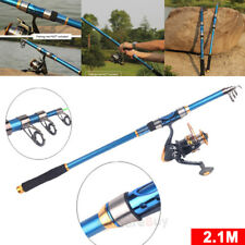 Carbon Telescope Fishing Rod Travel Sea/River Spinning Pole-Smart Anglers 2.1m