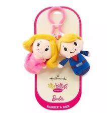 Barbie Doll And Ken Cute Plush Clippys Key Chain Hallmark Itty Bittys Bitty NEW