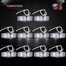 10 pcs Side Fender Marker Trailer Clear/Red Universal Mount Clearance LED Light