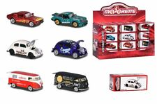 212052017 Majorette Vintage Deluxe Collectors Box Cars VW Porsche Ford