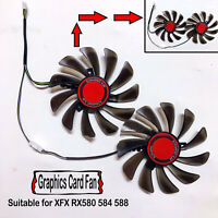 Graphics Card Dual Fan 95mm Video Card Cooler Fan for XFX RX580 584 588 Parts