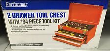 Portable Performer 2 Drawer Tool Chest with 194 Piece Tool Kit