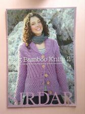 Sirdar Big Bamboo Knit 2 Knitting Pattern Book 11 Designs Ladies & Girls