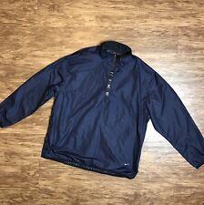 Mens Nike XXL Windbreaker Jacket 2XL Vtg 90s Spell Out Track Pullover Half Zip