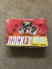 1989-90 O PEE CHEE HOCKEY - WAX BOX (48) STICKER CARD PACKS * WAYNE GRETZKY *