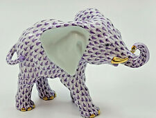 Herend Roaming Elephant Rare Lilac Fishnet *Brand New* (List $650) Vhl15086
