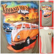 "Volkswagen of Naples FL Bug Bus Vanagon Olive Thin Tshirt Med 19.5"" Pit2Pit"