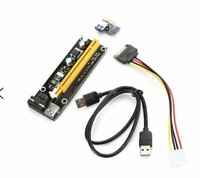 PCI - E 1X to 16X Extender Riser Card Adapter with USB 3.0 Cable Bitcoin Litecoi