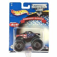 Hot Wheels Monster Jam Monster Truck 4x4 Action AIRBORNE RANGER USA Flag 1/64