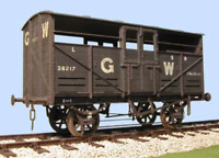 "Slaters 7054 O Gauge GWR 18'6"" Cattle Wagon Kit"