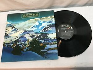 John Denver ♫ Rocky Mountain Christmas  1975 RCA Holiday Very Good Free Shipping