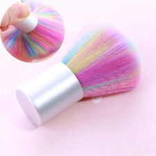 Rainbow Color Soft Nail Cleaning Brush Acrylic UV Gel Powder Dust Remover Tool