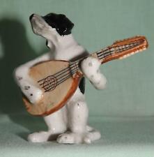 More details for klima miniature porcelain animal figure pointer dog with lute k673