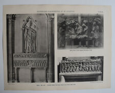 CARCASSONNE Tombeau AIX PROVENCE Cathedrale ARCHITECTURE Sculpture PHOTO 1910
