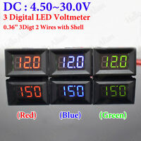 DC 6V 12V 24V Digital LED Display Panel Voltage Volt Meter Voltmeter Car battery