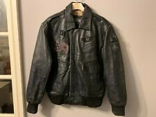 VINTAGE NICKELSON DISTRESSED LEATHER MOTORCYCLE JACKET SIZE M