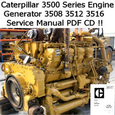 Caterpillar Engine 3500 Series 3508 3512 3516 Service Workshop Manual PDF CD