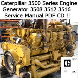 Caterpillar Engine 3500 Series 3508 3512 3516 Service Workshop Manual PDF CD