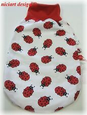 Niciart ♥ nuevo pucksack ♥ bebé saco de dormir ♥ mariquitas ♥ algodón & Molton ♥