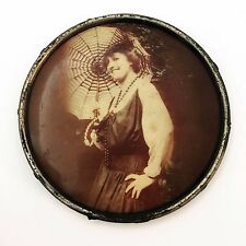 Vintage Fashion Photo Printed Metal Circle1920's Woman's Portrait Umbrella Model