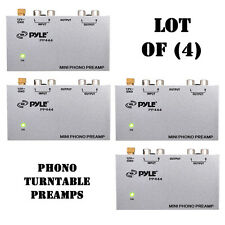 Lot of (4) Pyle PP444 Ultra Compact Phono Turntable Preamp / Amplifier Converts