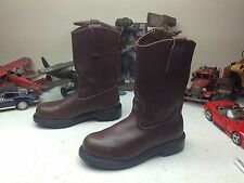 STEEL TOE RED WING USA BROWN LEATHER TRUCKER BOOTS 6E