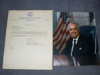 GOVERNOR OF VIRGINIA LAWRENCE DOUGLAS WILDER HAND SIGNED PHOTOGRAPH WITH LETTER