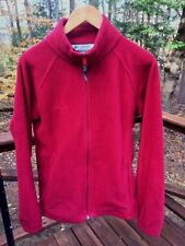 Columbia Women's Ladies L Maroon Crimson Red Soft Fleece Jacket Coat Barely Worn