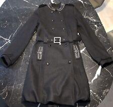 Patrizia Pepe Mantel schwarz Designer Wintermantel  für Damen It. 42, Dt. 36