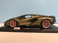 Maisto Lamborghini Sian FKP 37 2020 Special Edition Olive Green #31720