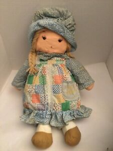 "Vintage Holly Hobbie Knickerbocker Doll Plush Friend Amy 16"" Rag Doll 1970's"