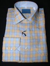 Men's Shirt 100% Linen Size.S  2,Chest Pocket with Flap Art. Stefano1014B