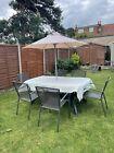Garden Furniture - Patio Set 6 Seater & Parasol